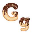 tempting typography font design 3d donut letter g