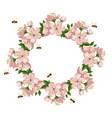 vintage colorful floral crown summer cherry vector image vector image