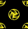 volleyball black seamless background vector image vector image