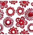 Watercolor abstract flower seamless pattern vector image vector image