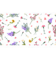 wild flowers pattern spring summer print love vector image