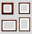 wooden mahogany picture frames vector image vector image