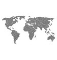 world map collage of piggy items vector image