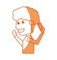 young man with smartphone cartoon vector image vector image