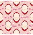 Wedding seamless pattern with golden ring in a red vector image