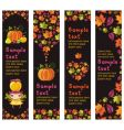 autumnal banners vector image