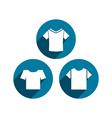 Man t-shirt icon set vector image