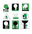Set of summer camp badges and other outdoor logo vector image