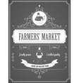 Farmers Market Vintage Advertisement Poster vector image