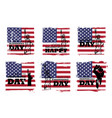 4th july independence day usa set of vector image