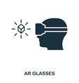 ar glasses icon mobile app printing web site vector image