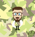 army camouflage cartoon guy vector image vector image