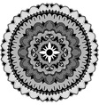 Black Mandala Ornament vector image vector image