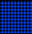 blue and black houndstooth seamless pattern vector image