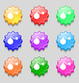 bomb icon sign symbol on nine wavy colourful vector image vector image