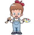 Boy artist vector image