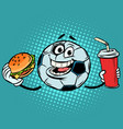 break match fast food cola and burger vector image