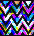 bright zigzag seamless pattern with grunge effect vector image vector image