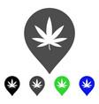 cannabis marker flat icon vector image vector image
