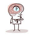 cartoon man with a hole in brain and memory vector image
