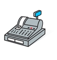 cash register sign vector image