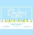 christmas festival and party template snow tree vector image vector image