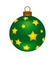 Christmas green ball vector image vector image