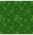 Colorful green seamless pattern with stylized vector image vector image