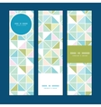 colorful pastel triangle texture vertical banners vector image vector image