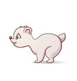 cute funny polar bear vector image