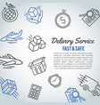 delivery line icon bussiness brochure shipment vector image vector image