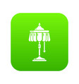 electric lamp icon green vector image vector image