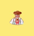 emoji sticker seaman captain sailor mascot crying vector image vector image