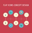 flat icons treatment radiology stomatology and vector image