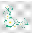 floral vine Vignette of flowers and vector image