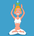 girl in lotus position vector image vector image