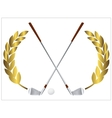 Golf clubs vector image vector image