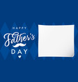 happy fathers day elegant banner navy blue vector image vector image