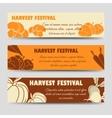 harvest festival horizontal banners template vector image