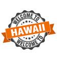 hawaii round ribbon seal vector image vector image