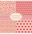 Heart shape seamless patterns Cover for vector image