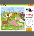 how many farm animals game vector image