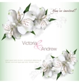 Invitation card Lilly vector image
