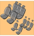 Isolated Car Seat vector image