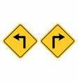 left and right traffic signs vector image vector image