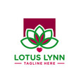 modern love lotus flower logo vector image vector image