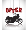 Motorcycle offer vector image vector image