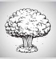 nuclear explosion mushroom cloud drawing vector image