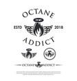 octane addict logo hipster modern vector image vector image