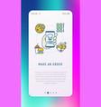 order food online via mobile app vector image vector image